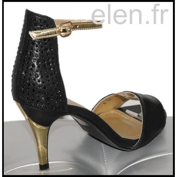 "Escarpins ""gold & strass"" STYLE SHOES Ref: 0373"