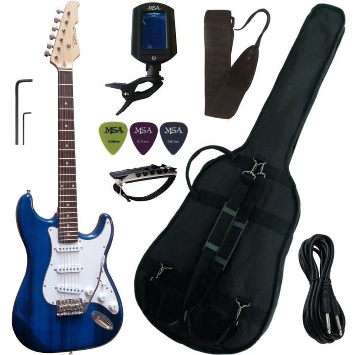 Accordeur de guitare MSA Musikinstrumente ET 33 B noir