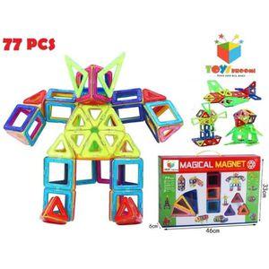 ASSEMBLAGE CONSTRUCTION Jeu D'Assemblage 77 pièces Blocs magique de constr