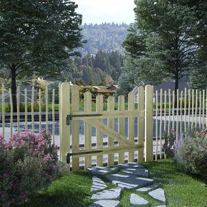 PORTAIL - PORTILLON MAD Portail de jardin Pin imprégné FSC 100 x 100 c
