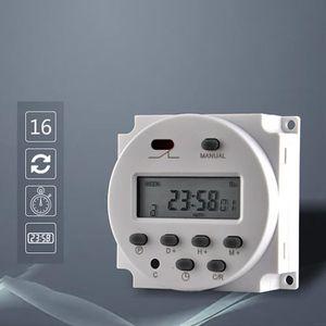 7 jours mécanique Secteur Britannique unique Analogique Minuterie Horloge Commutateur Plug-Blanc