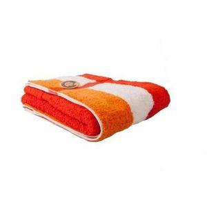 SERVIETTES DE BAIN Gözze, serviette de toilette à rayures orange, bl