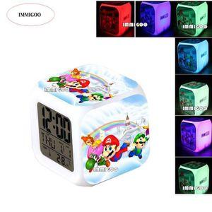 Reveil Digital lumineux Mario personnalisé  avec le prénom de votre choix