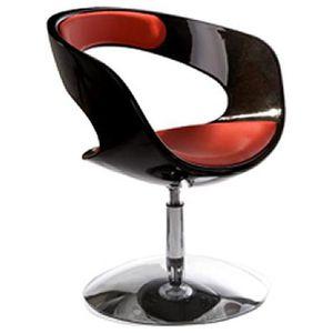 FAUTEUIL Fauteuil design rotatif Noir/Rouge