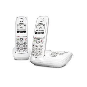 Téléphone fixe Gigaset AS470A Duo Blanc - Téléphone DECT - Répond