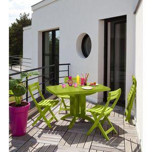 Salon de jardin Vega Taupe 165/220 cm - Achat / Vente salon ...