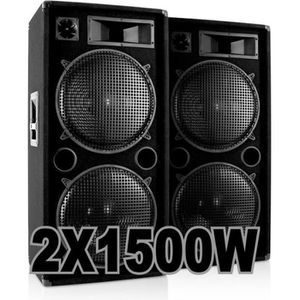 PACK SONO PACK 3000W avec 2 ENCEINTES 1500W .......100% CANO