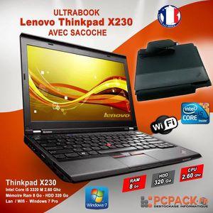 PC RECONDITIONNÉ LENOVO Thinkpad X230 - i5 2.6GHz 8Go 320Go WIFI Wi