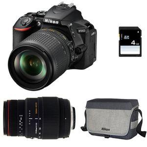 APPAREIL PHOTO RÉFLEX NIKON D5600 + AF-S DX 18-105mm f/3.5-5.6G ED VR +
