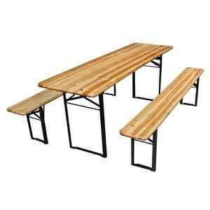 Table picnic avec 2 bancs en bois - Achat / Vente ensemble ...