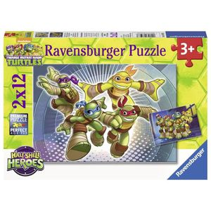 PUZZLE Puzzle 12 pièces 2 Puzzles - Tortues Ninja
