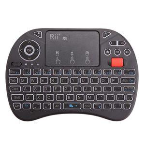 PACK CLAVIER - SOURIS Rii Mini clavier sans fil X8 2.4GHz avec combo sou