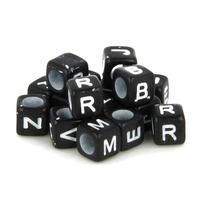 Perle Dé Alphabet 6mm noir et blanc 300 pièces - Artémio Noir