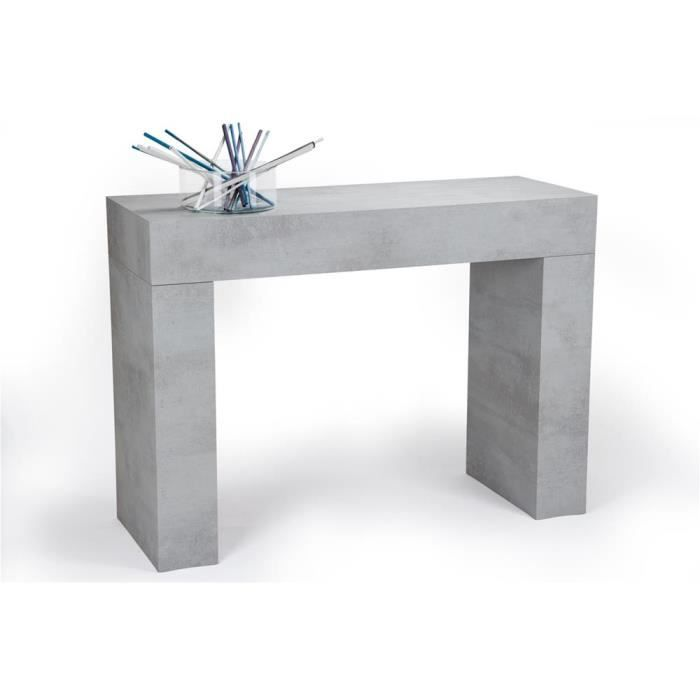 Mobili Fiver, Table console, Evolution, Béton, Mélaminé, Made in Italy