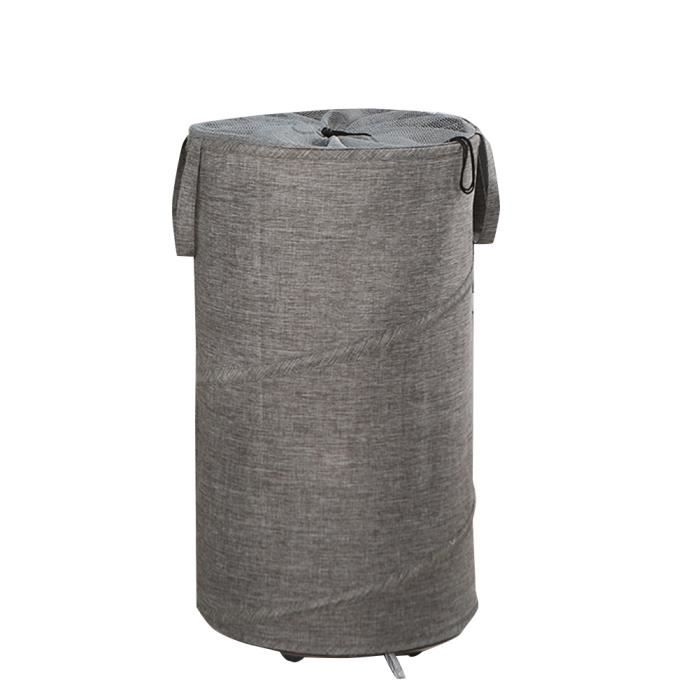 Panier à linge pliable pratique avec panier pliable à roulettes 38x38x68cm gris