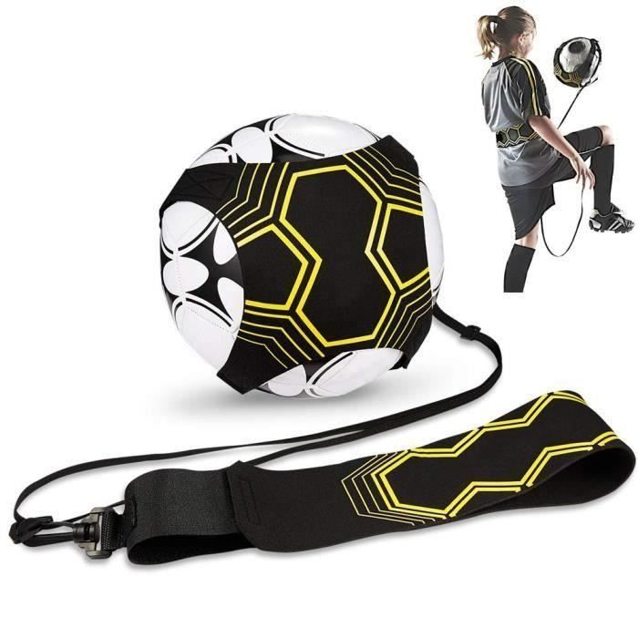 CO Ceinture Réglable Solo Kicking Pratique, Sangle Élastique pour Entraînement de Football, Football Kick Traine pour Enfant et Adul