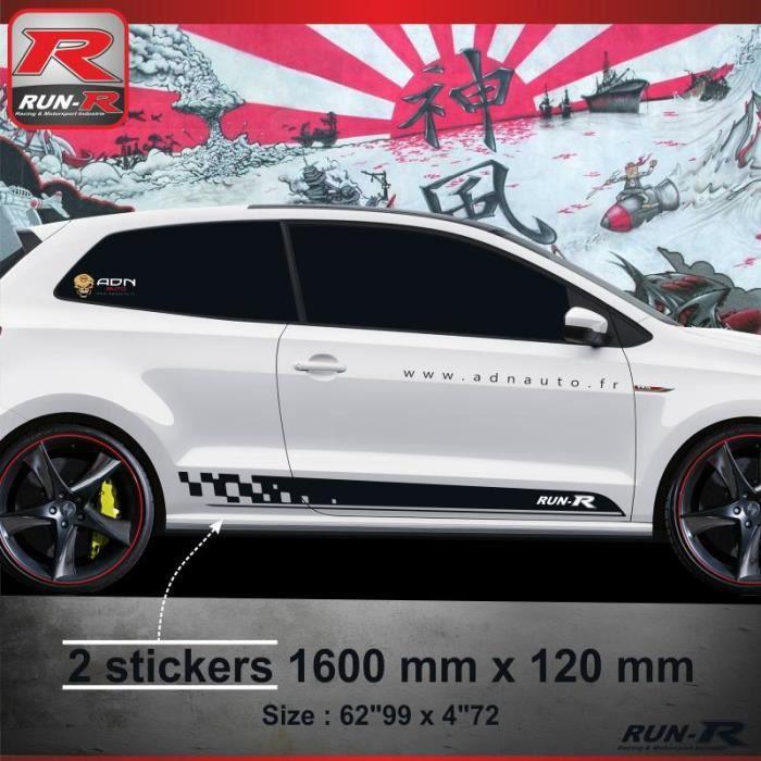 011N Sticker bas de caisse SPORT pour VOLKSWAGEN POLO 6R - Aufkleber adesivi - Noir