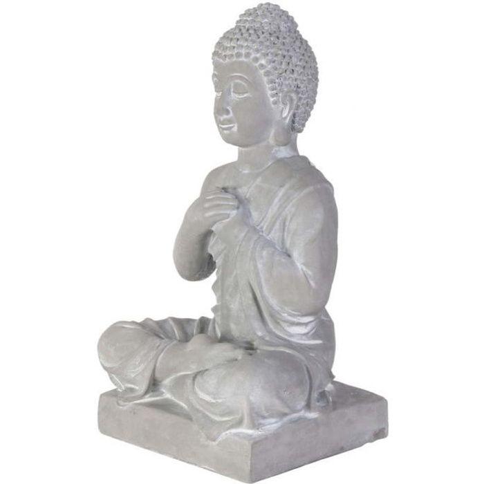 Bouddha assis ciment 27 cm