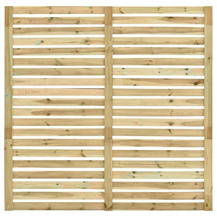 Haute qualité Panneau de clôture de jardin Bois de pin imprégné 180 x 180 cm *186440