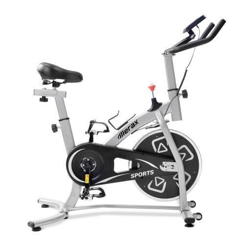 Vélo d'appartement - vélo d'intérieur avec console LCD-coussin de siège confortable -Charge maximale 100 kg - Noir +Argent