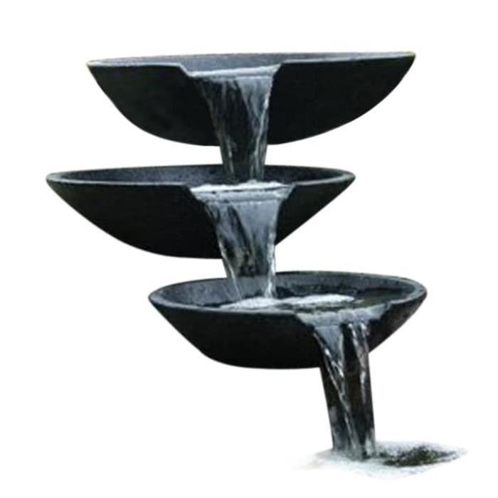 Market® Fontaine de jardin Décor - Cascade 3 vasques avec pompe - Fontaine d'extérieur Fontaine extérieur de Jardin 35-45-55 cm ♪♪16