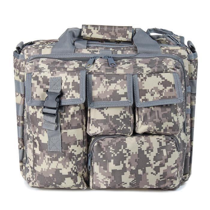 Kit de Sac à dos tactique-Sac à Main+Sac à Bandoulière Camouflage ACU Wir48