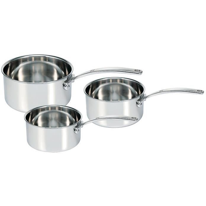 Série de 3 casseroles d.16/18/20cm Tri lux