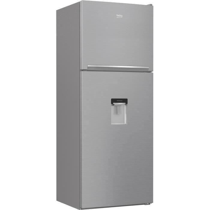 BEKO - RDNE455K30DXBN - Réfrigérateur congélateur haut - 402 L (309+93) - Froid ventilé - NeoFrost - Métal brossé