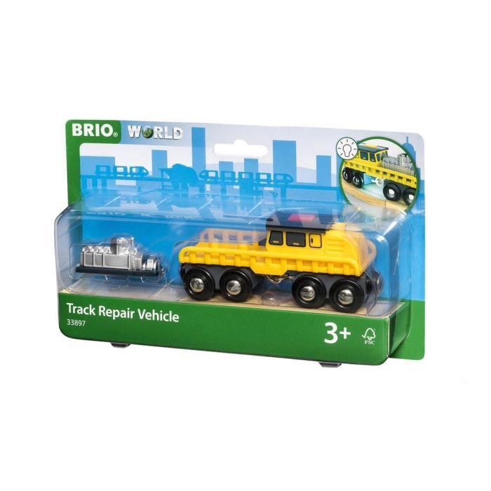 BRIO World - 33897 - Véhicule de Maintenance avec Lumière - Pour circuit en bois