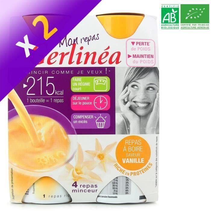 [LOT DE 2] GERLINEA Boisson saveur vanille substitut de repas - 4x 236 ml