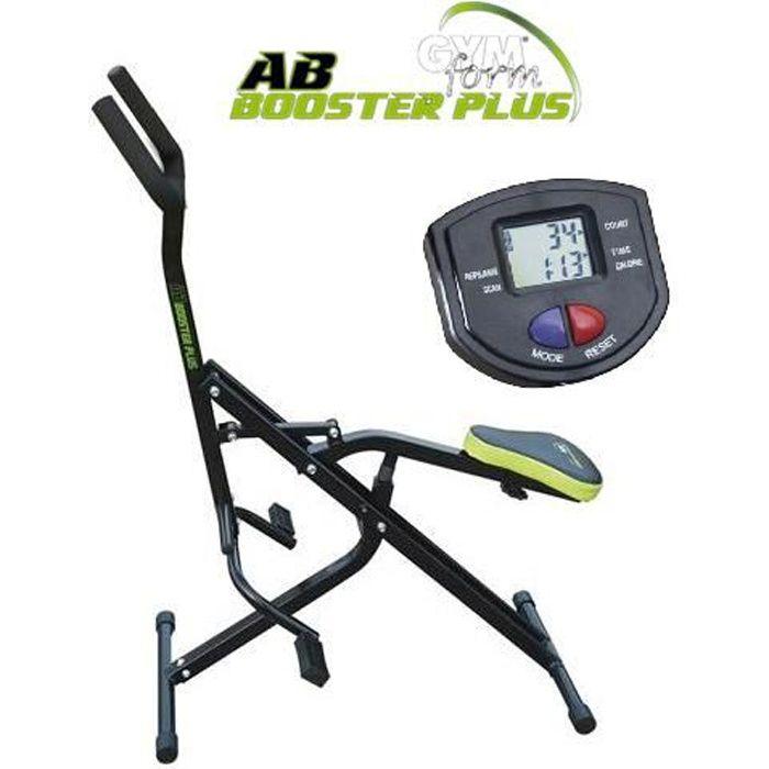 Gymform AB Booster Plus avec mini ordinateur, appareil de musculation, fitness abdo, dos, abdominaux, bras