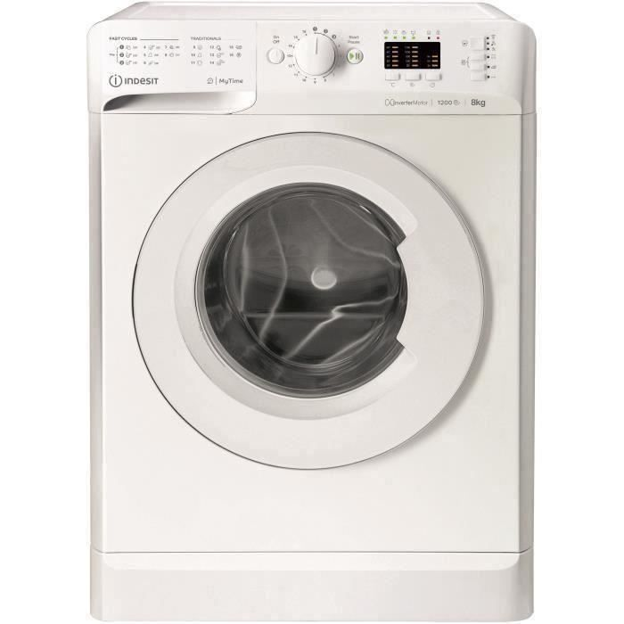 INDESIT - MTWA81283WEU -Machine à laver Posable Front MY TIME 8 kg 1200Trs A+++ blanche