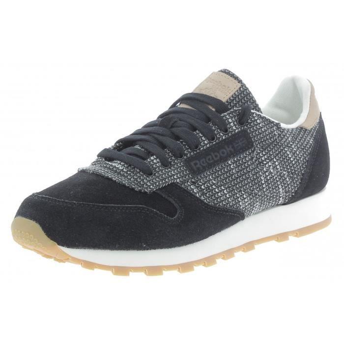 Reebok - Reebok Classic Lthr Ebk Chaussures de Sport Homme Noir