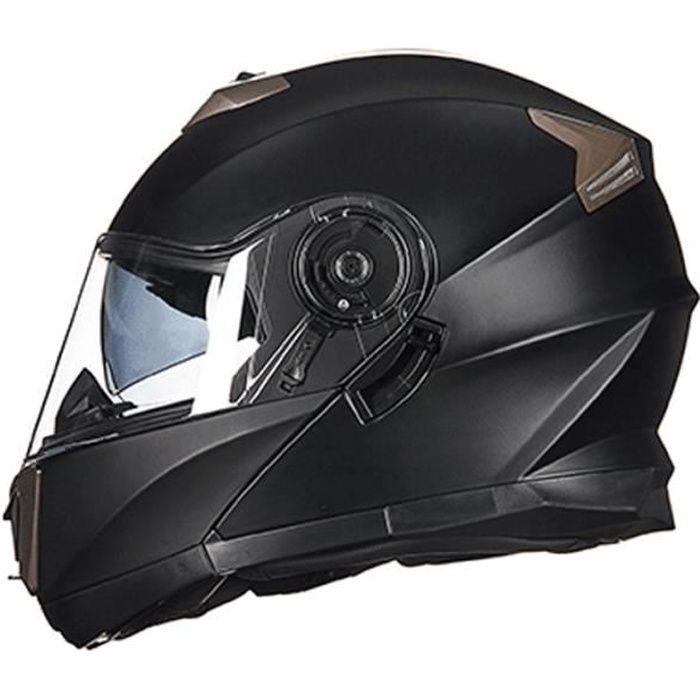 Casque Moto Unisexe de Marque luxe Casque moto dévoilement du casque Moto double couverture complète personnalité Casque Moto