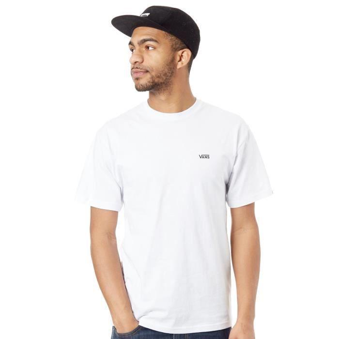 Tee shirt Vans Chest Logo Blanc-Noir