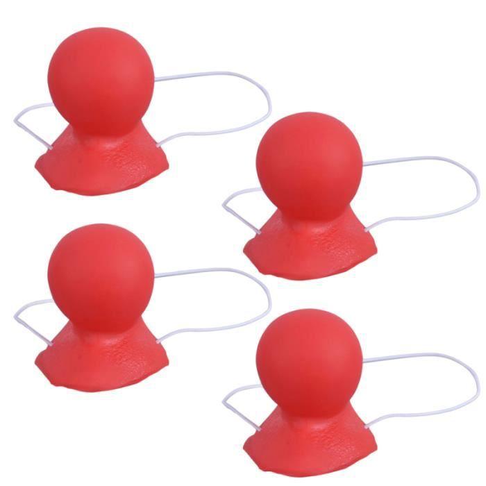 4 pcs / pack nez rouge Texture lisse Durable Clown accessoire pour Halloween MASQUE VISAGE - ACCESSOIRE DEGUISEMENT VISAGE
