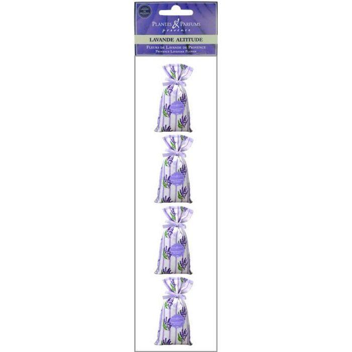 Plantes & Parfums de Provence - 4 x Sachets Fleurs de Lavande de Provence 4 x 20g