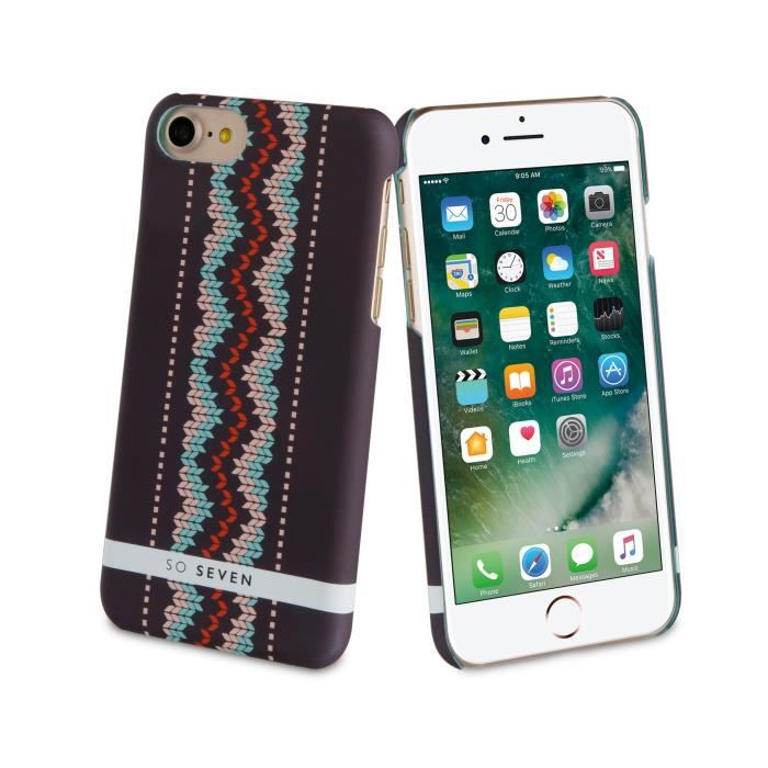 SO SEVEN Coque HIVER CANADIEN Motif PULL VertICAL APPLE IPHONE 7