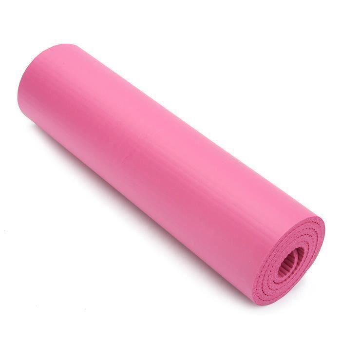za001-Pliable Tapis de Yoga Antidérapant Epais Mat Gymnastique Fitness Exercise Sport Rose