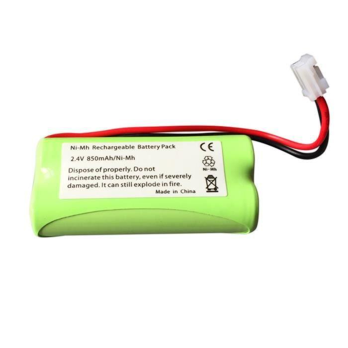 Batterie de rechange LP175N NiMH 2,4/V 850/mAh pour moniteur num/érique de b/éb/é Tomy TD300