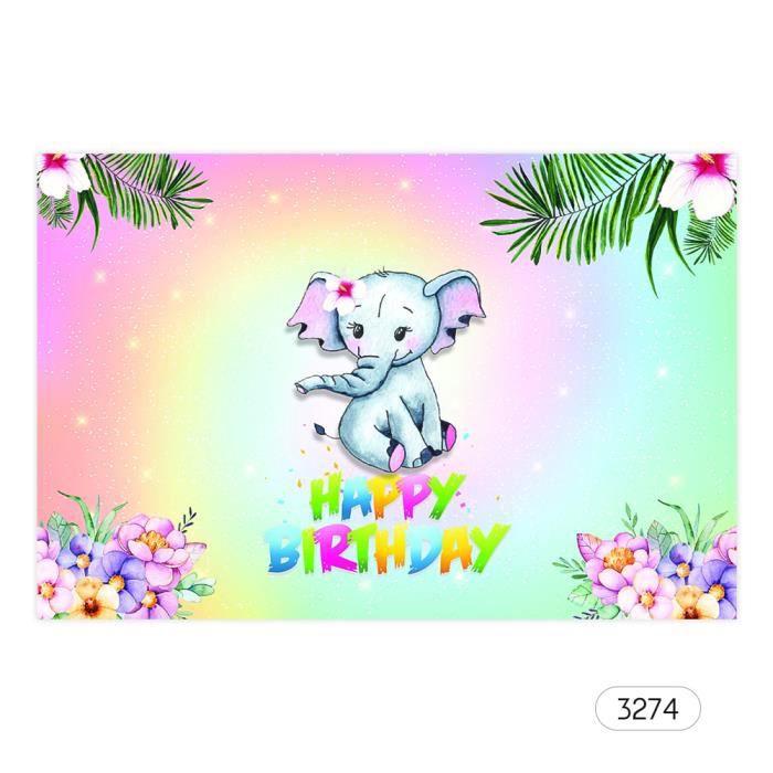 7 5ft Joyeux Anniversaire Dessin Anime Toile De Fond Bebe Douche Enfant Anniversaire Photographie Fond Tissu Enfants Carnaval U Prix Pas Cher Cdiscount