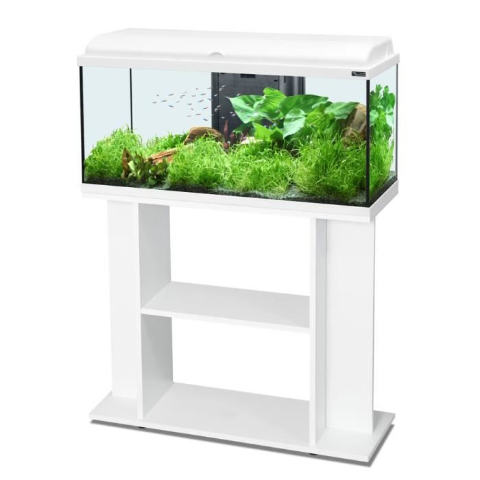 ensemble aquarium aquadream 80 blanc led meuble achat vente sous meuble ensemble aquarium. Black Bedroom Furniture Sets. Home Design Ideas