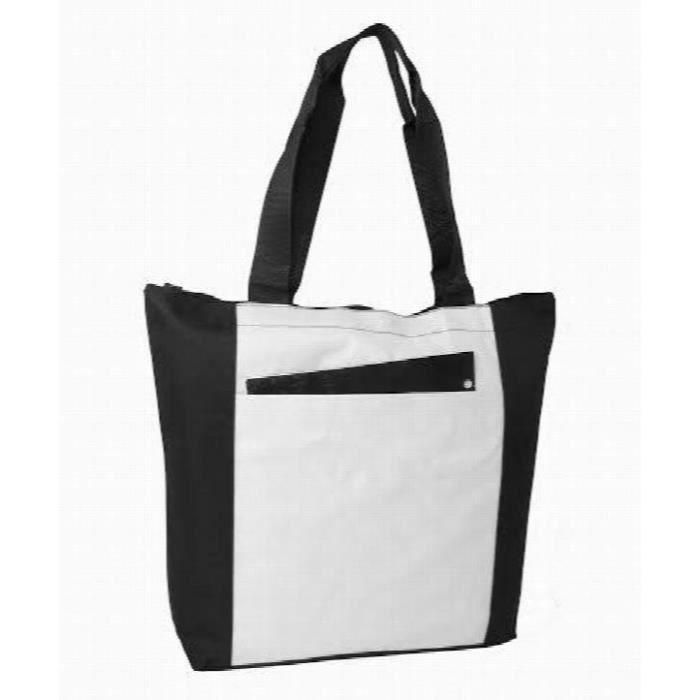 Women s Eco-Friendly Polyester Two Tone Zippered Tote Bag RVADA ... 99de8b85c1b