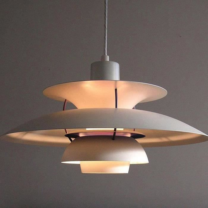 R tro suspension blanc lustre en fer luminaire lustres for Lustre en suspension