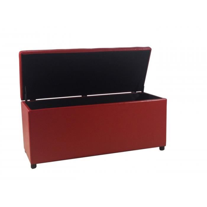 banquette coffre de rangement rouge meli achat vente. Black Bedroom Furniture Sets. Home Design Ideas