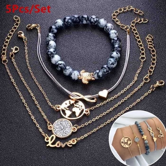 400pcs Jewelry Making À faire soi-même Accessoires Argent Antique Alliage assorties Perles Artisanat