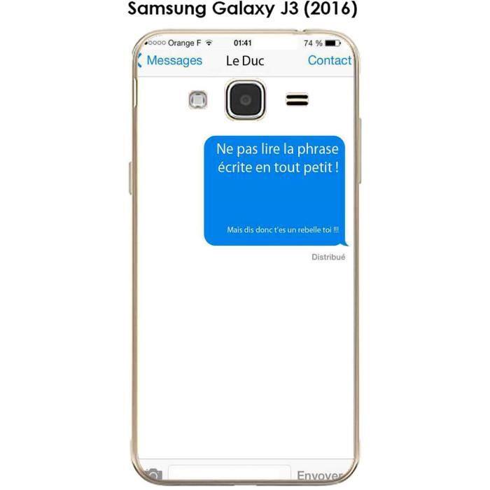 Coque Samsung Galaxy J3 (2016) design Texto Ne pas lire ...