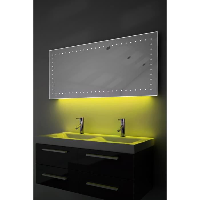 miroir ultra fin salle de bain lumi re ambiante del anti. Black Bedroom Furniture Sets. Home Design Ideas