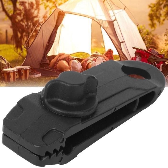 Nouveau 10pcs clip coupe-vent auvent pince bâche Clips Camping tente boucle