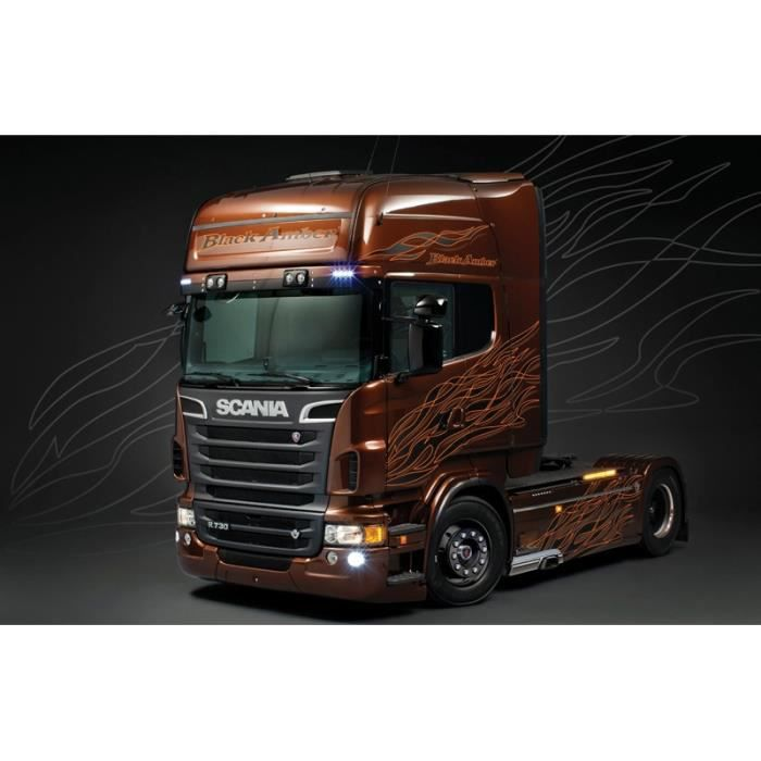 maquette camion scania r black amber achat vente voiture construire cdiscount. Black Bedroom Furniture Sets. Home Design Ideas